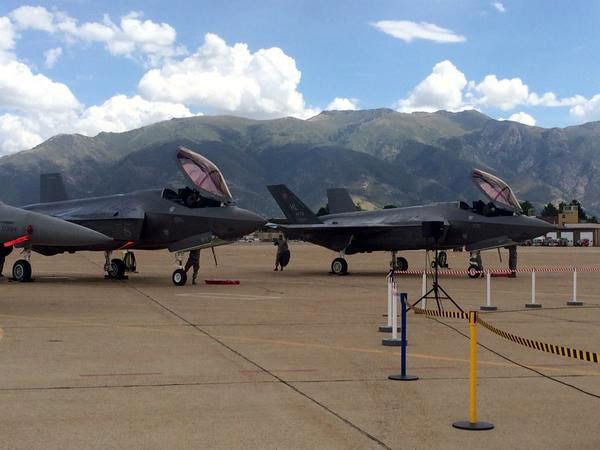 The first two of 72 F-35A jet fighters are delivered to Hill Air Force Base in Utah...on September 2, 2015.