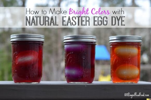 Natural Easter Egg Dyes: A fun kitchen experiment!