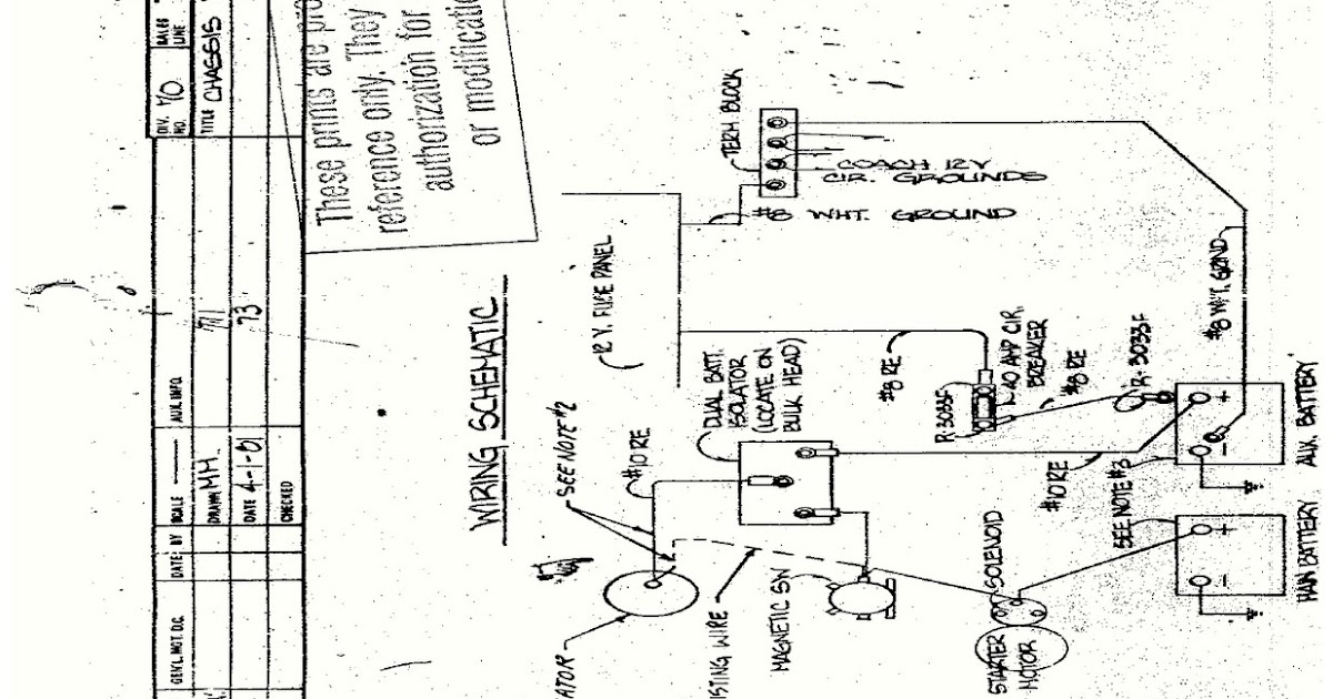 HOW TO Read Fleetwood Discovery Motorhome Wiring Diagram