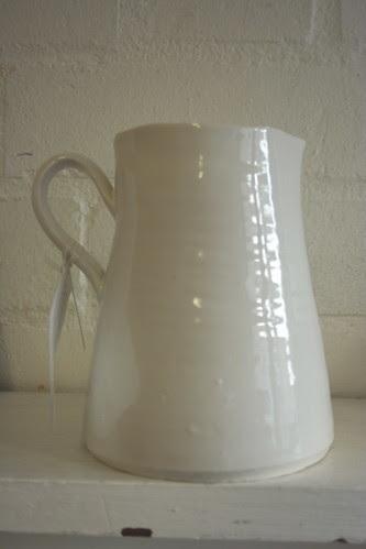 Porcelain milk jug by potteryrachel