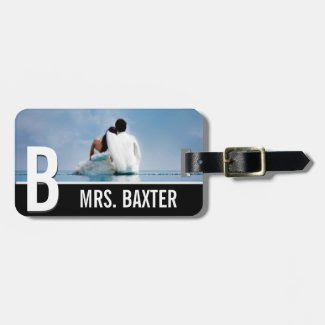 Newly Wed Honeymoon Engagement Custom Luggage Tag