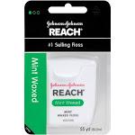 Johnson & Johnson Reach Waxed Dental Floss, Mint, 55 yd