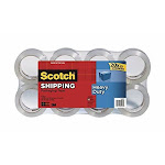 Scotch Heavy Duty Shipping Packaging Tape, 1.88 Inches x 54.6 Yards, 8 Rolls with Dispenser