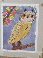Fall Tree with Owl