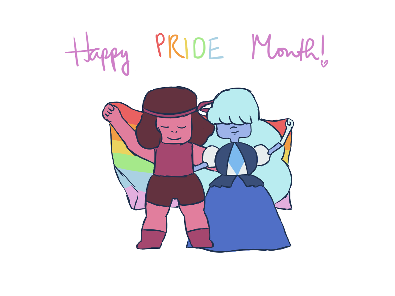 drew these lovelies for pride month.