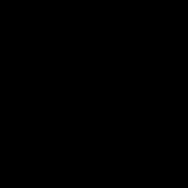 シルエットでかわいいパグの無料イラスト商用フリー オイデ43