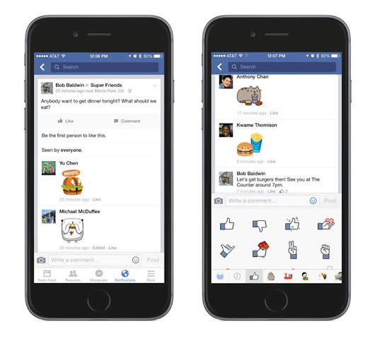 Facebook Lets You Put Stickers In Comments