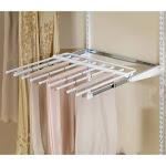 Rubbermaid Configurations Closet Sliding Pants Rack - White