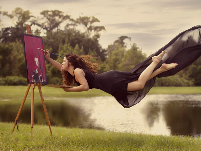 The Weightlessness of an Artist's Soul  [Explored]