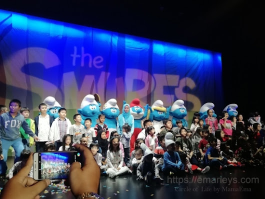 Bawa anak-anak tengok SMURFS live on stage di Genting Highlands - Emarieys Dot Com