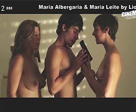 Maria Albergaria e Maria Leite nuas na curta Inferno