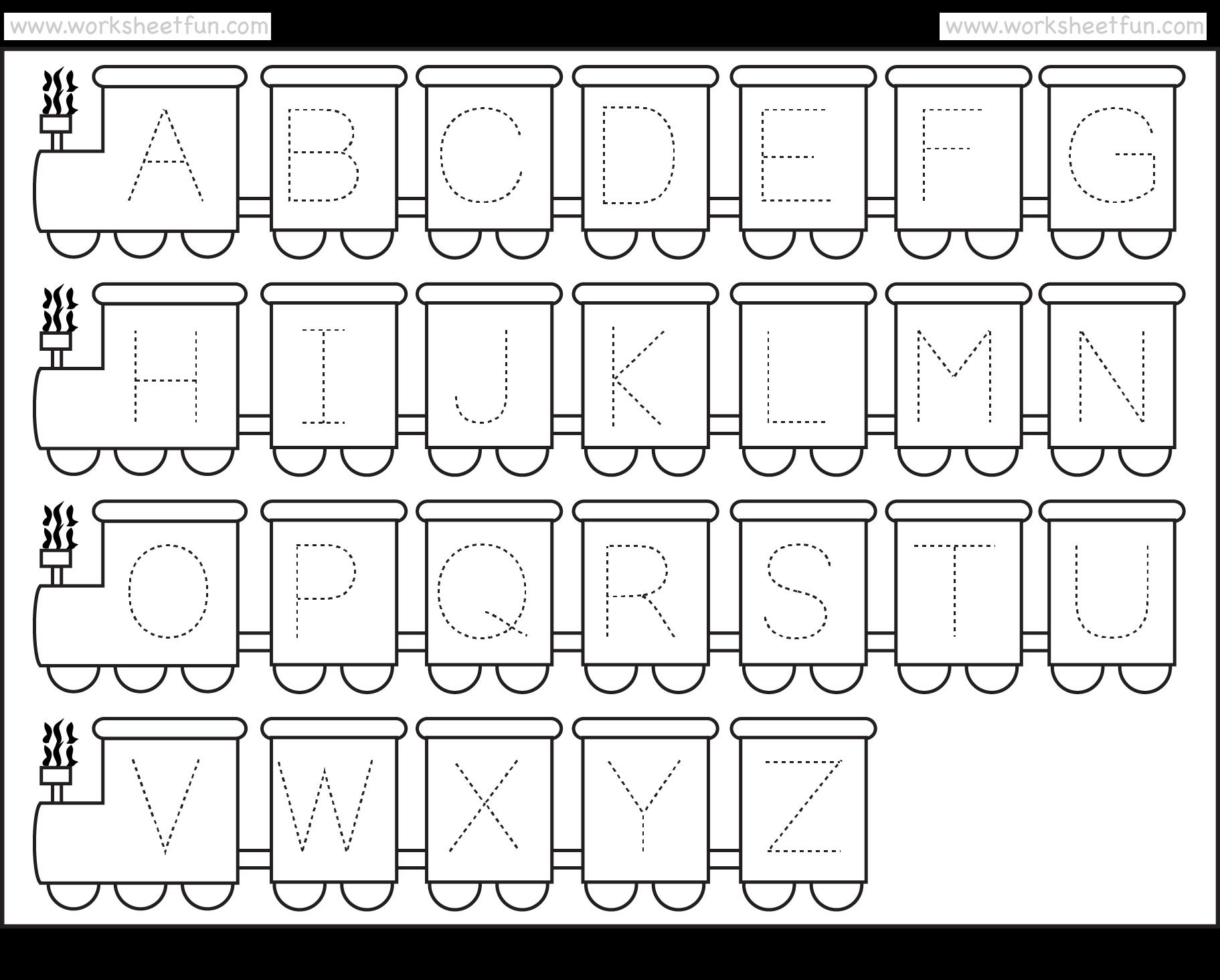 Printable Kindergarten Worksheets Alphabet - Scalien