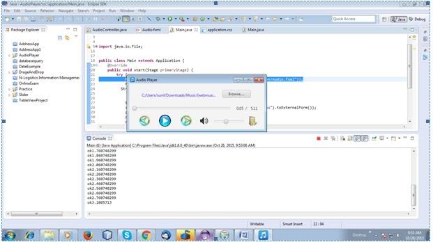 Audio Player in Java Fx   Yusata Infotech Blogs