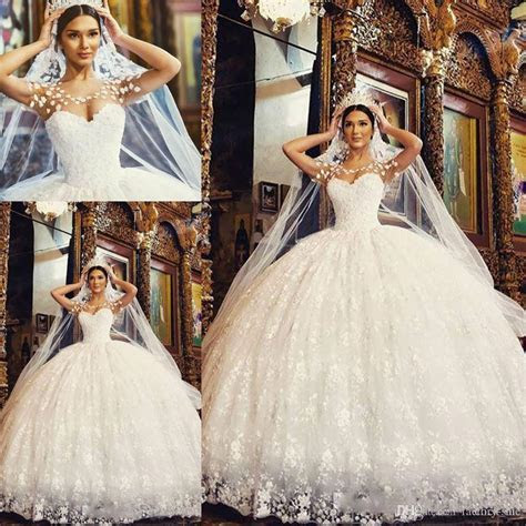 Said Mhamad 2017 New Ball Gowns Wedding Dresses Sheer