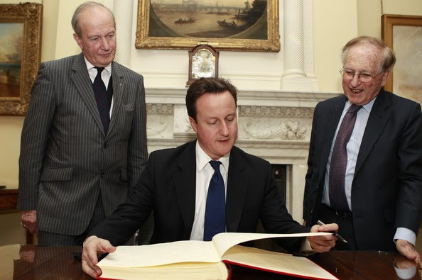 Lord Janner (right) with David Cameron