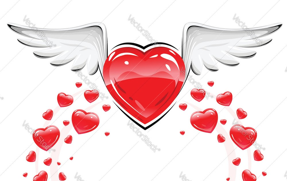 Love Heart Wallpaper Tatto Drawings with Wings Sweets ...