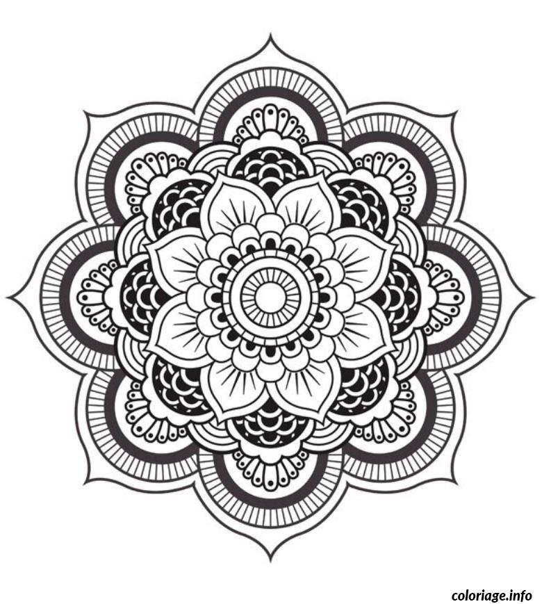 Coloriage Mandala Fleur Jecoloriecom