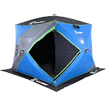 Clam X400 Thermal 4-6 Person Outdoor Portable Pop Up Ice Fishing Shelter Tent by VM Express