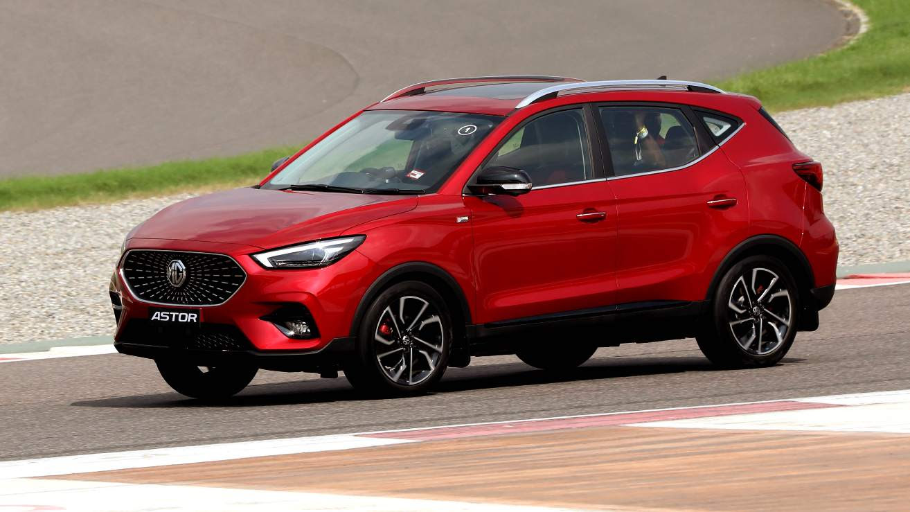 Pronounced body roll means the Astor is not for the spirited driver. Image: MG