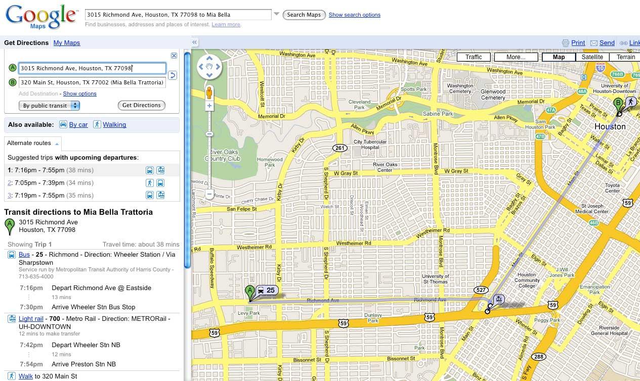 Houston Now On Google Transit Houston Tomorrow