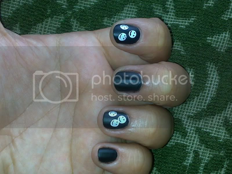 black,matt,claire's,konad,nail,polish
