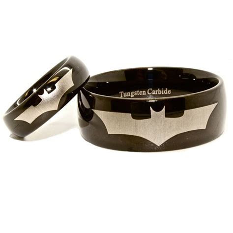 $99.95   Matching 6mm 10mm Batman Tungsten Wedding Ring
