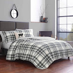 Eddie Bauer Coal Creek Plaid Quilt Set, Full/Queen, Chrome