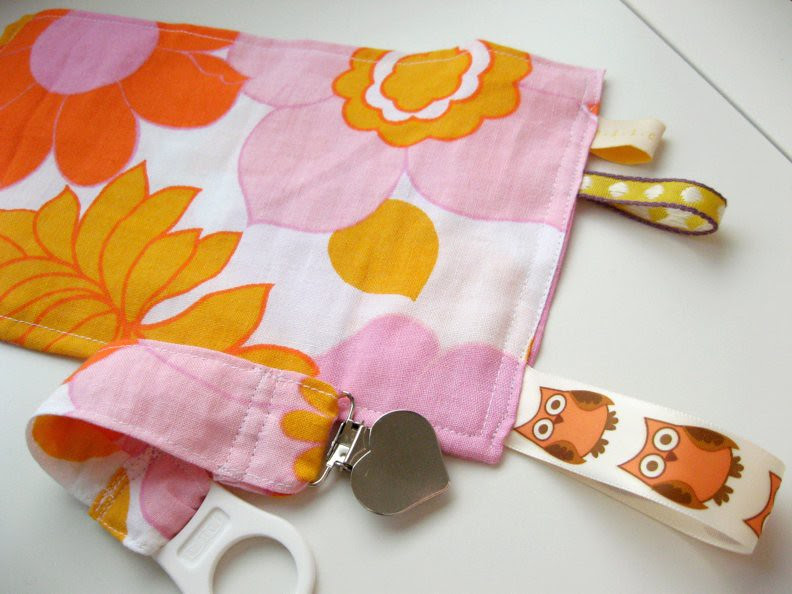 sensory cloth with matching pacifier clip