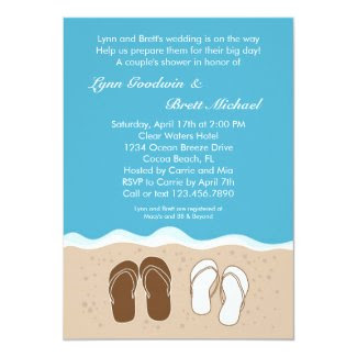 Flip Flops Couple's Bridal Shower Invitation