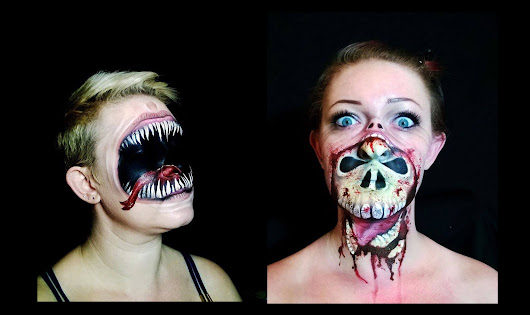 Make-up Artist Paints the Most Mind-Fucking, Scary Halloween Masks
