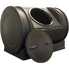 Good Ideas 52 Gallon Compost Recycled Plastic Tumbler Durable 100% Polyethylene Black Decor