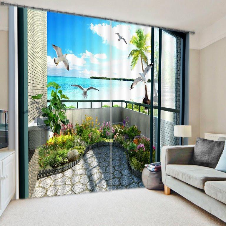High Quality 3D Scenery Energy Saving Curtain