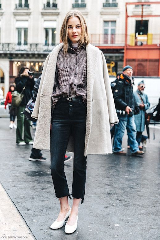 Le Fashion Blog Street Style Pfw Layered Look Shearling Coat Button Down Shirt Black Cropped Raw Hem Jeans Flats Via Collage Vintage photo Le-Fashion-Blog-Street-Style-Pfw-Layered-Look-Shearling-Coat-Button-Down-Shirt-Black-Cropped-Raw-Hem-Jeans-Flats-Via-Collage-Vintage.jpg