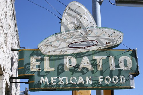 el patio mexican food neon sign