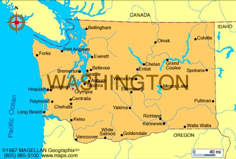 washington map infoplease