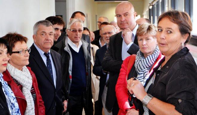 Les élus d'Auray ont visité le nouveau centre médico-psychologique de secteur,...