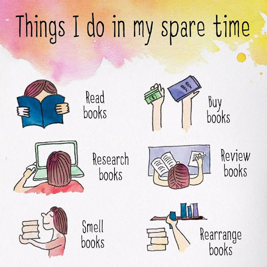 "Writers Write on Twitter: ""Things I do in my spare time  For #booklovers """
