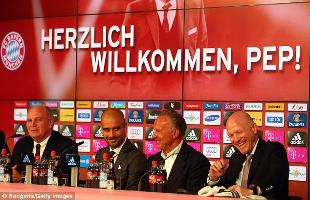 Welcome, Pep! The manager already looks comfortable in his surroundings