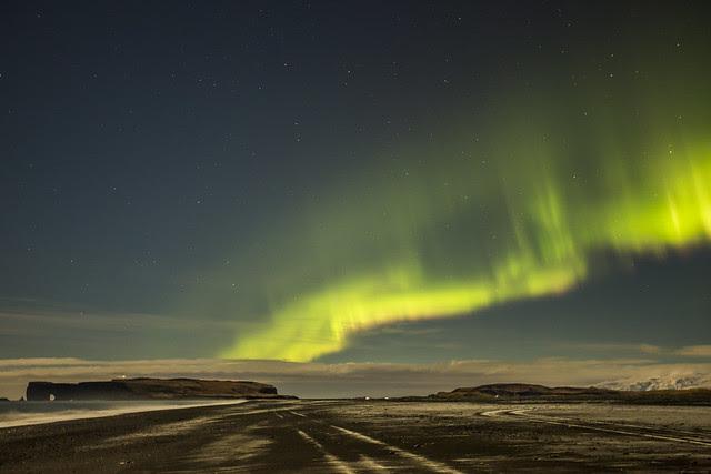 Auroras Boreales cerca de Vik