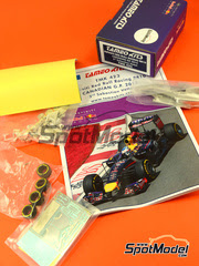 Maqueta de coche 1/43 Tameo Kits - RB10 Infiniti Nº 1 - Sebastian Vettel - Gran Premio de Canada 2014 - kit de metal