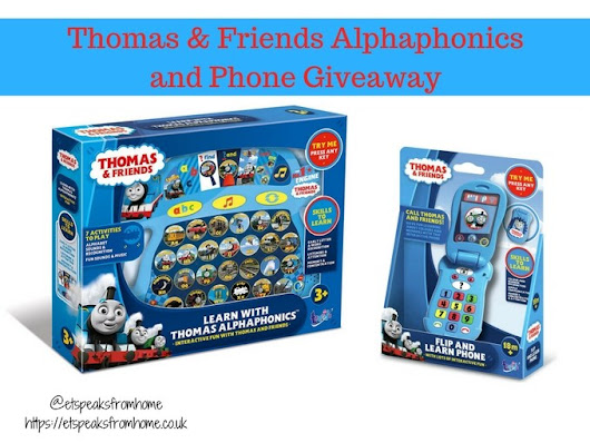 Blogger @etspeaksfrom UK Giveaway: Thomas & Friends Alphaphonics and Phone - Closes 9th Jan 2018 - Bloggers Required