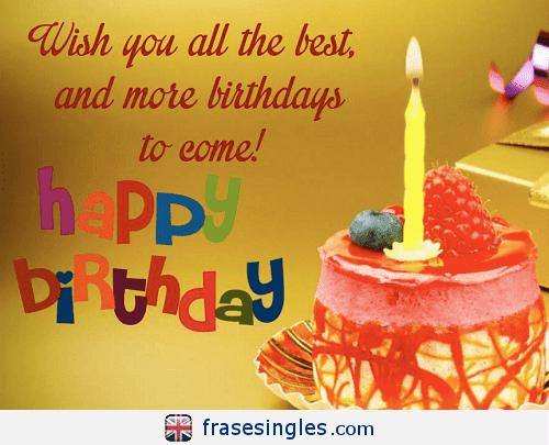 Frases De Cumpleaños En Inglés Frasesinglescom