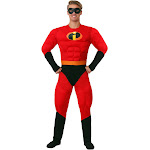 Disguise Men's Mr. Incredible Muscle Costume, Black/Red