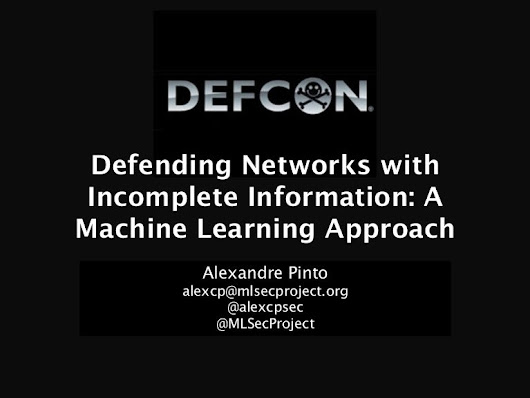 Defending Networks with Incomplete Information: A Machine Learning ...
