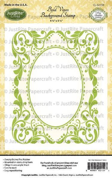 Bold Vines Cling Background Stamp