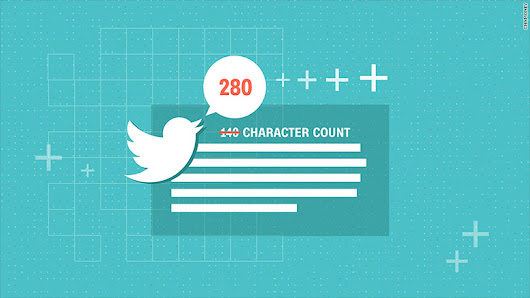 Twitter will double its character count for most users - Nov. 7, 2017
