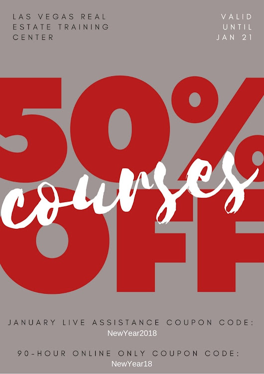 50% off pre-licensing courses until January 21