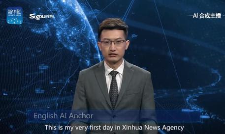 Cina: presentato il primo giornalista televisivo robot © ANSA