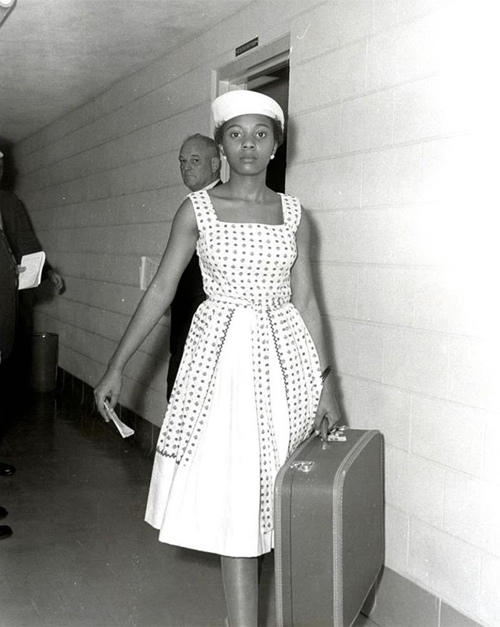 Voting Activist Annie Lumpkins At The Little Rock City Jail (10 July, 1961)