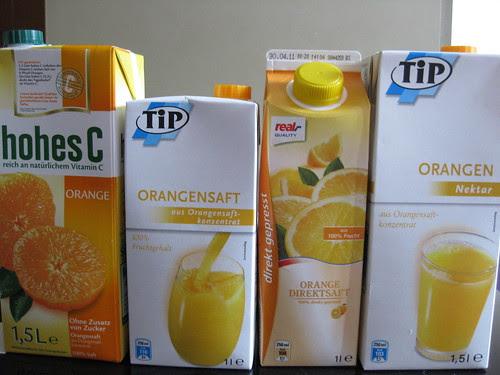 Orange juice comparison
